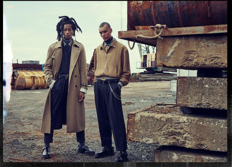 Stefan Beckman designed the set for the Zara Man Fall Winter 2018 ad