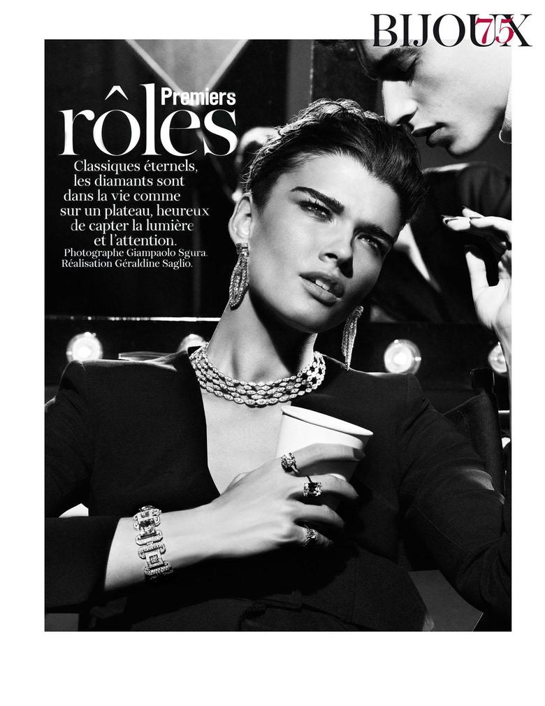 Crystal Renn Adrien Sahores by Giampaolo Sgura for Vogue Paris