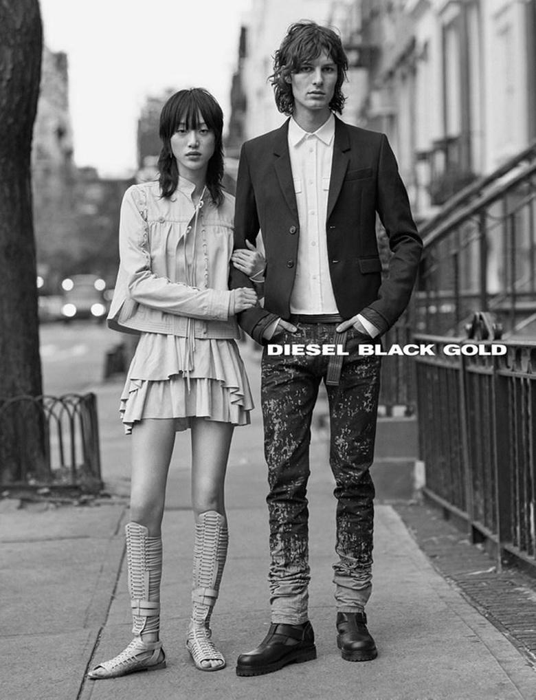 CAMPAIGN Sora Choi Akos Sogor for Diesel Black Gold Spring 2017