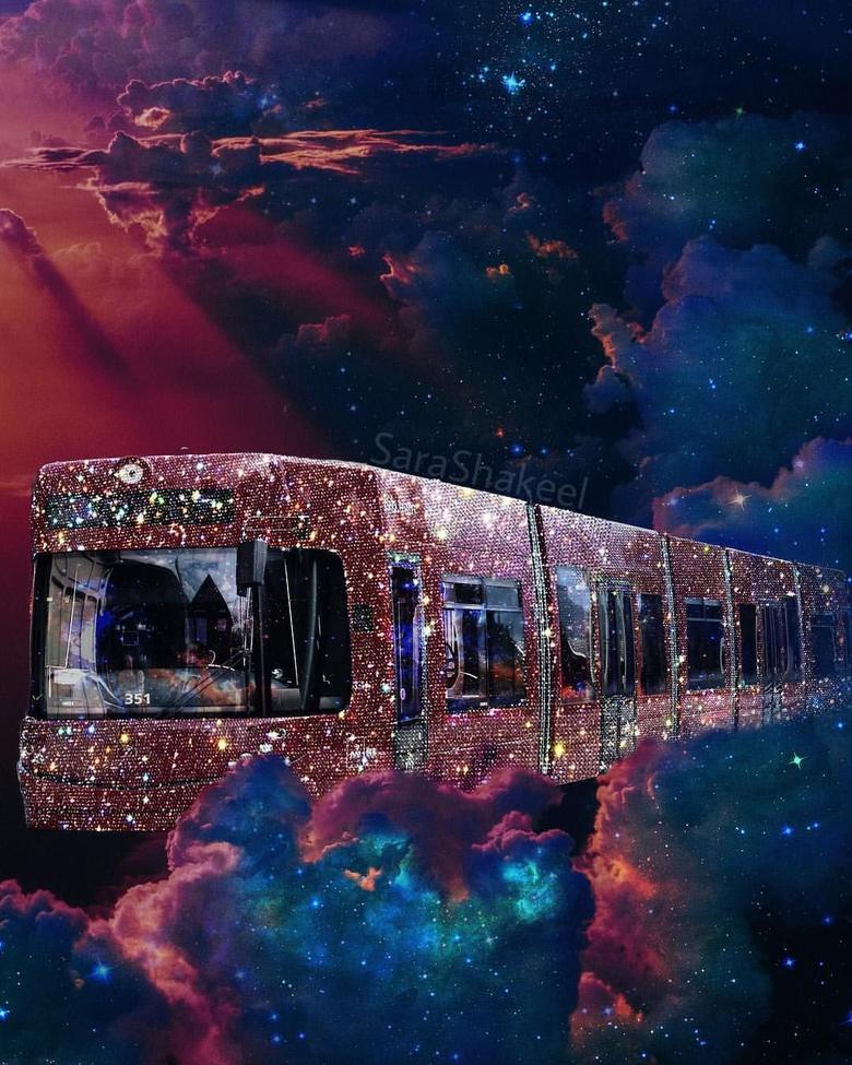 aesthetic glitter landscape