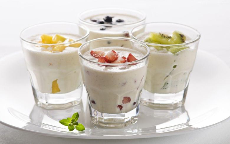 Wallpapers milk shake ice cream fruit strawberries kiwi mango