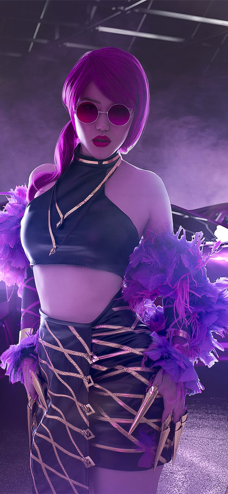 evelynn kda cosplay 4k iPhone 11 Wallpapers