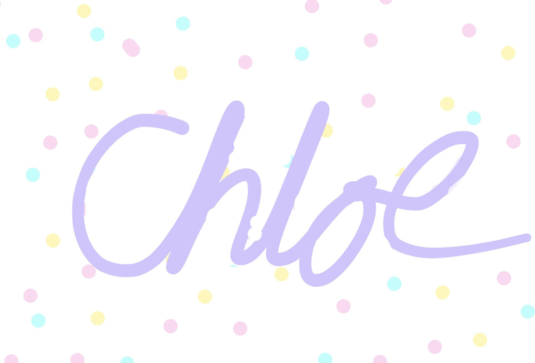 For my friend Chloe and other chloes