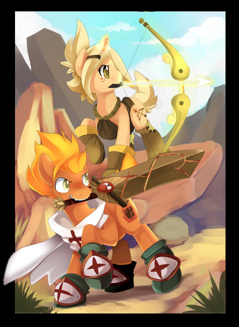 Pony Eva and Dally