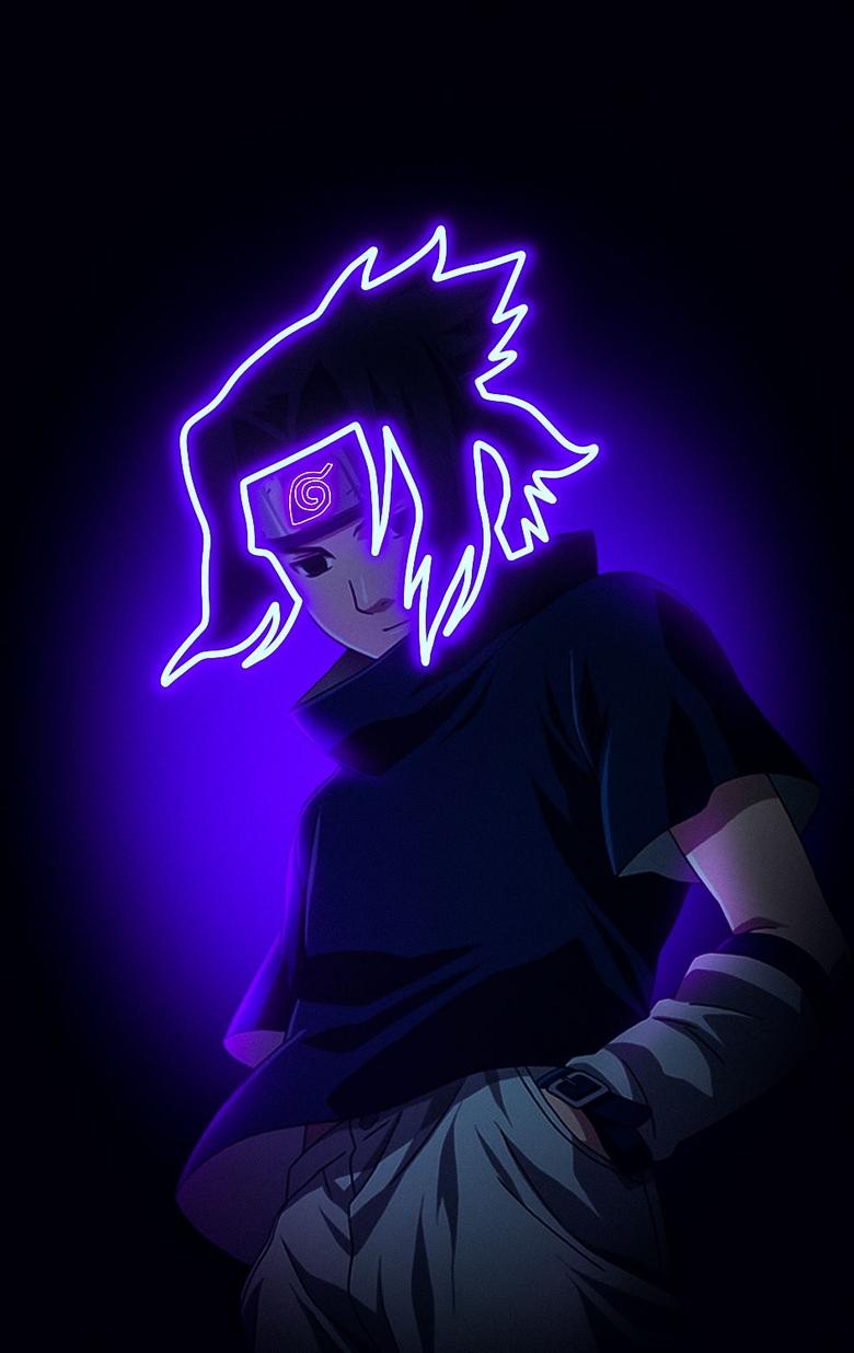 Anime Naruto Sasuke Uchiha Glow Wallpaper HD