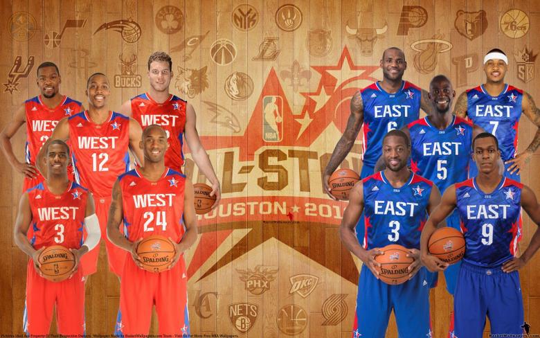 NBA ALL STAR STARTING LINEUP