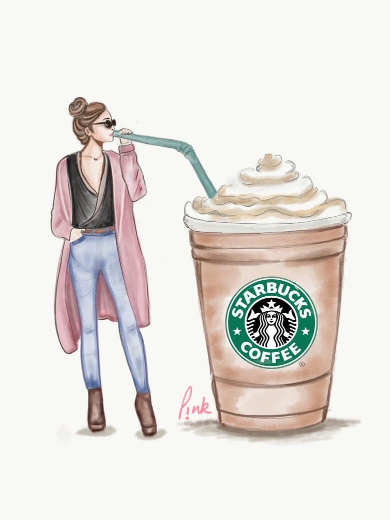Starbucks fadhion girl