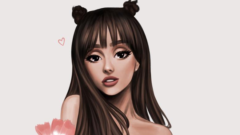Ariana Grande Cartoon Wallpapers Hd