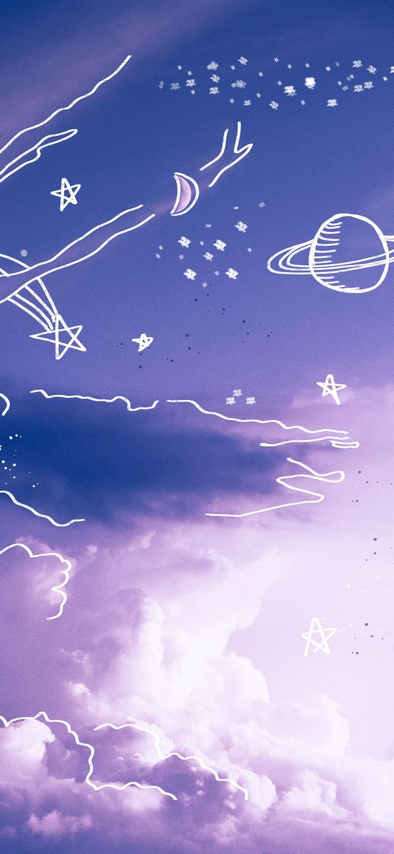Purple sky Aesthetic vsco background iPhone Case by trajeado14 in