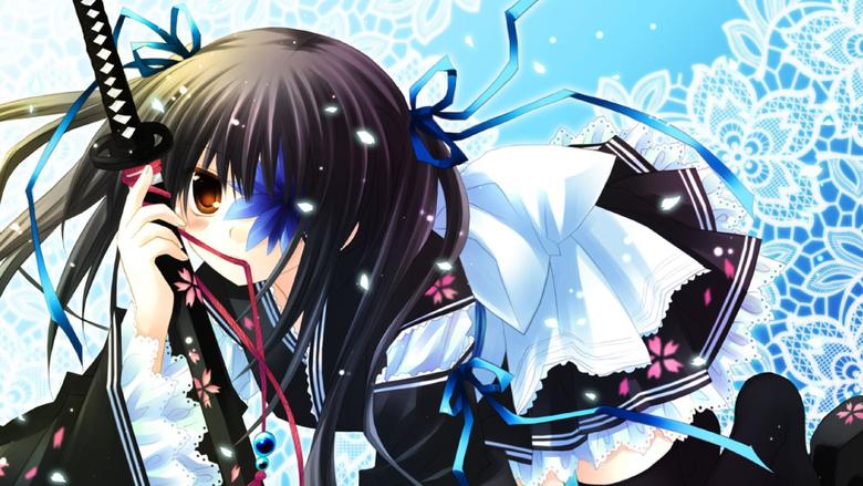 Wallpapers 1920x1080 Anime Girl Sword Posture Dressing