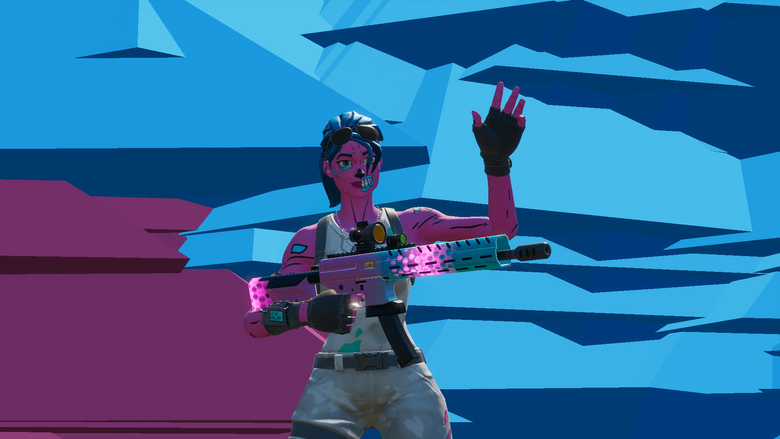 Pink Gold trooper with the tactical assault rifle