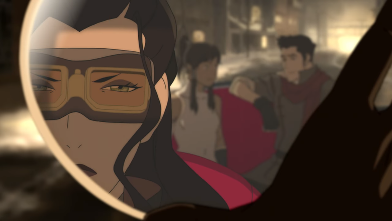 Rewatching noticed that in this scene Asami centers the mirror on Korra korrasami