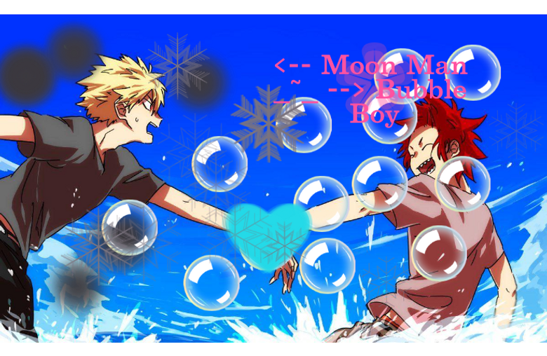 Moon Man And Bubble Boy Touched Hands