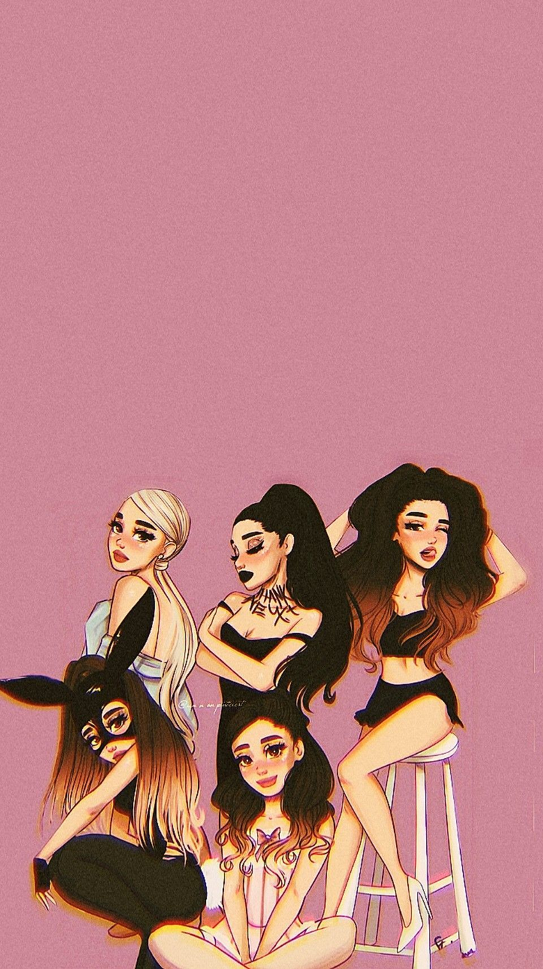 Ariana Grande Cartoon Wallpapers