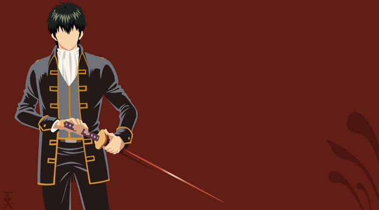 Hijikata Gintama minimal background