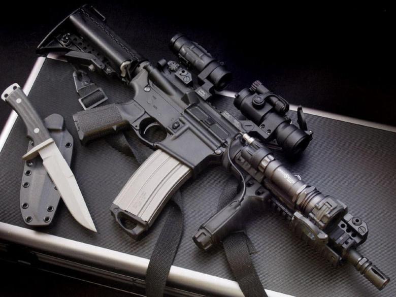 milatary guns