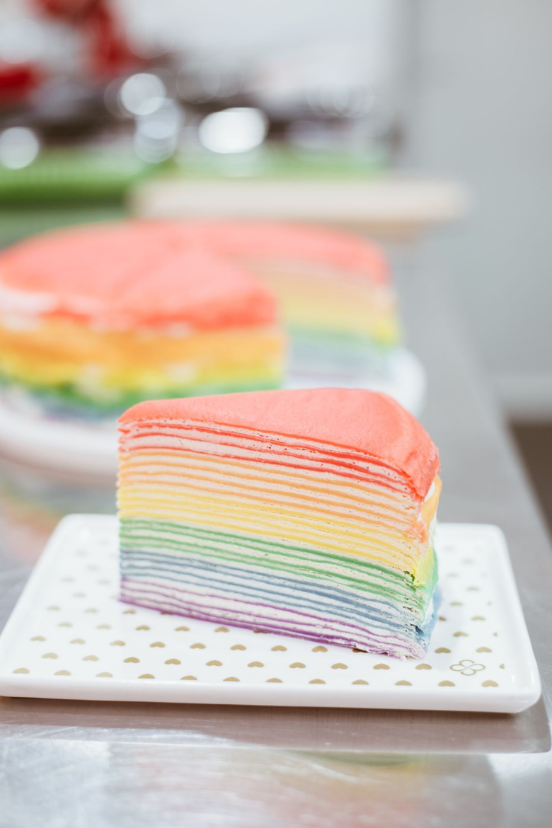 Rainbow Crepe Cakes now in Town