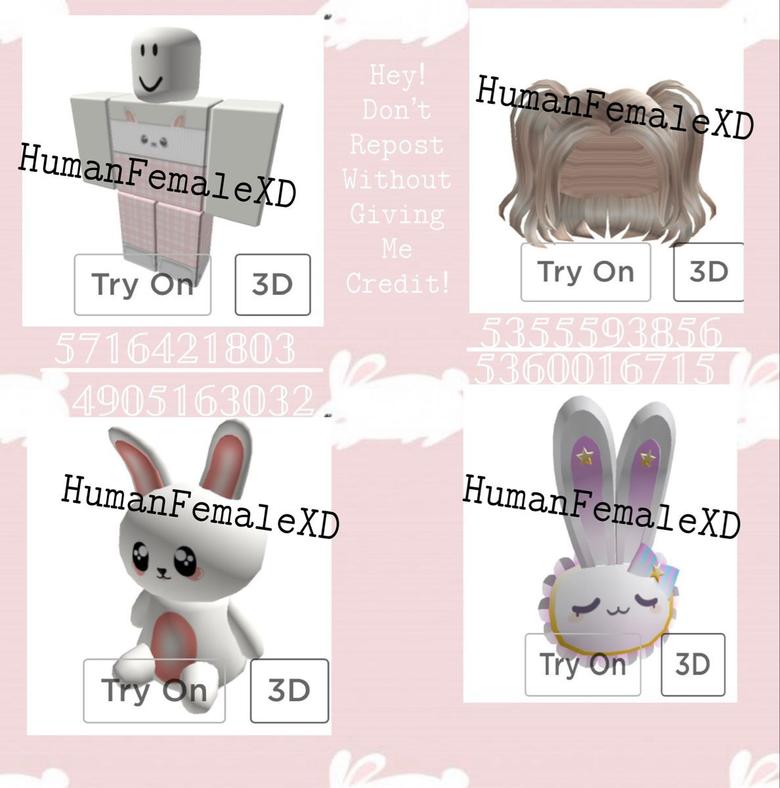 Aesthetic White Bunny Roblox Codes