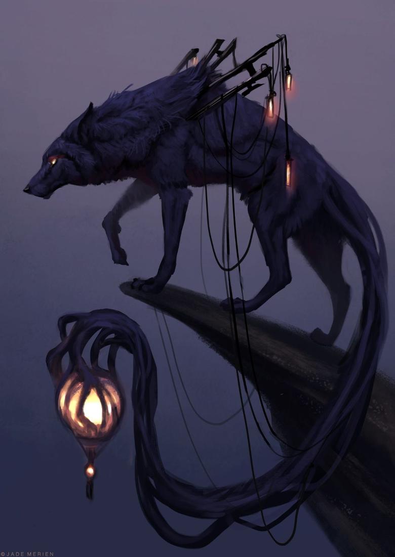 Dark Element Wielder Wolf