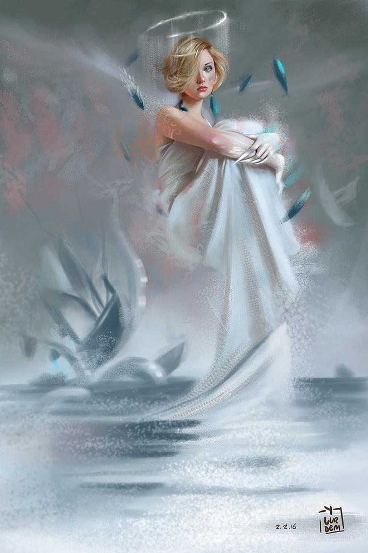 HD wallpaper angel art beautiful blonde fantasy original
