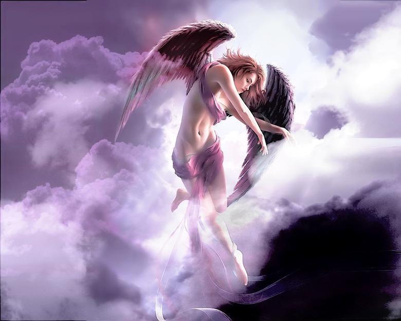 Beautiful Pink Angel Hd Wallpapers For Desktop