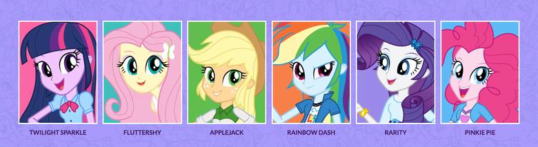 Equestria Girls Names of The Mane 6