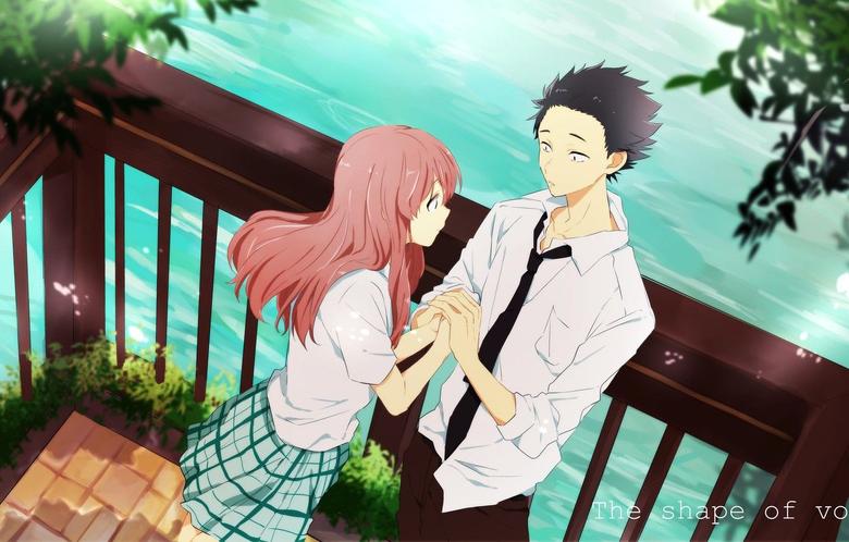 Wallpapers romance pair Anime two 2016 You no Katachi A