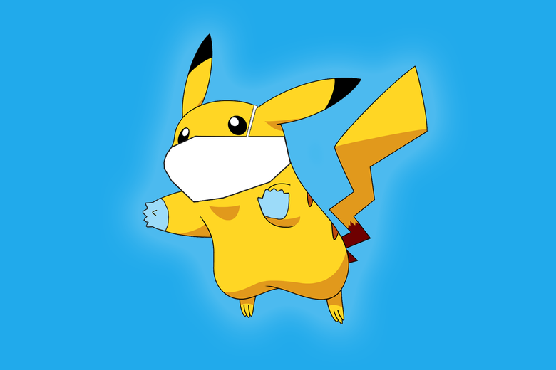 pikachu with mask