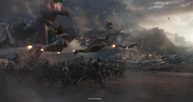 Captain Marvel vs Thanos Avengers Endgame Image Released