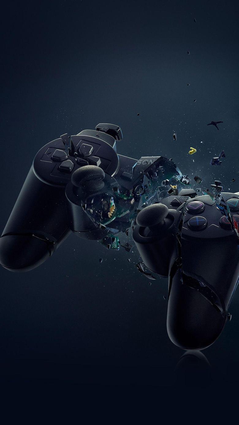 PS3 Broken Joystick Illustration Games Art Android Wallpapers