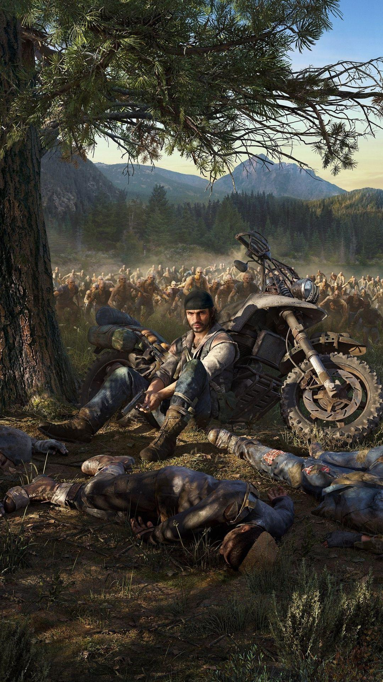 Biker Days Gone video game zombies attack 1080x1920