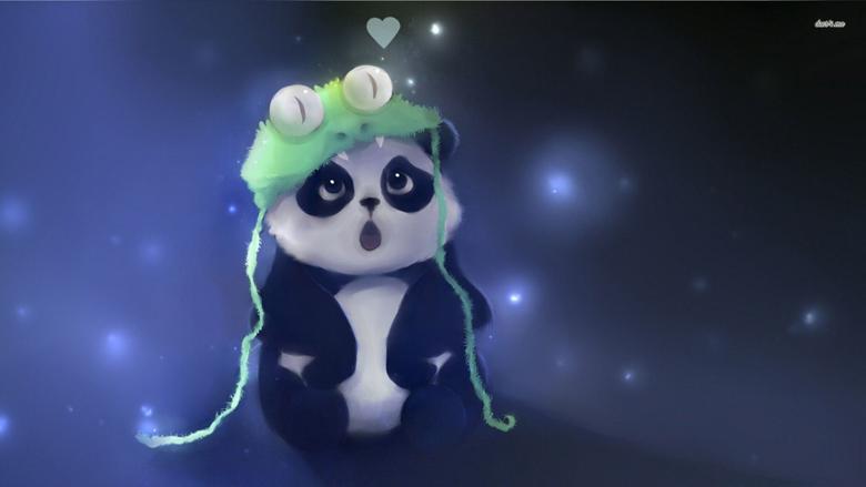 Aesthetic Cute Panda wallpaper
