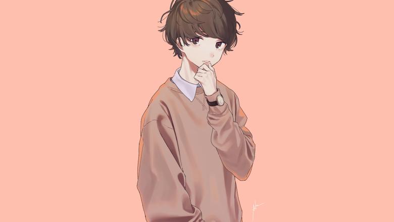 3840x2160 Anime Boy Pretty Cute Brown Hair