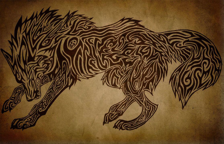Angry Tribal Wolf by Hedeltrez
