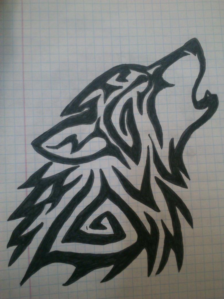 wolf tattoo drawing by LadyVlaew