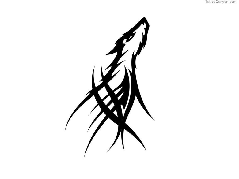 Designs Simple Tribal Wolf Tattoo Wallpapers Picture