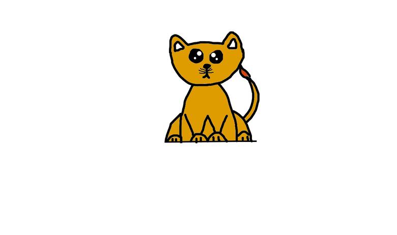 cute baby lion CUB