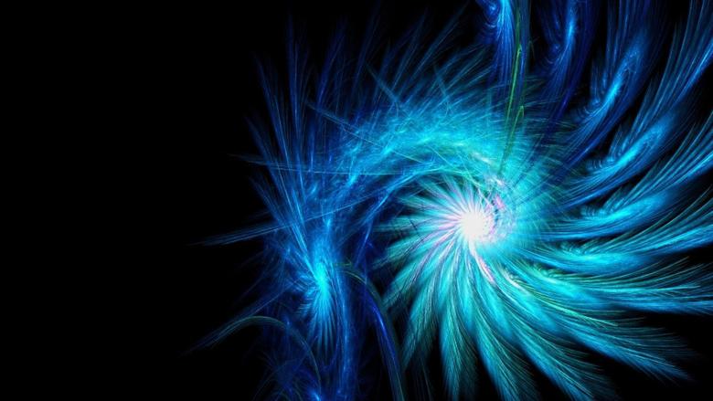 Blue Neon Wallpapers Spiral Light Backgrounds Dark Wallpapers
