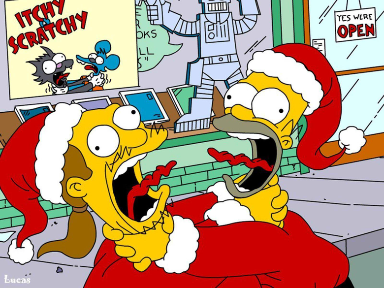 The Simpsons Christmas Time Wallpapers