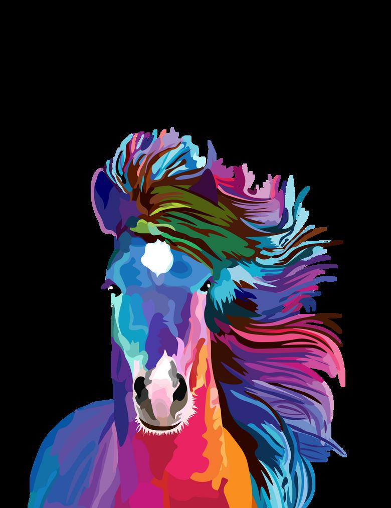 colorful stallion