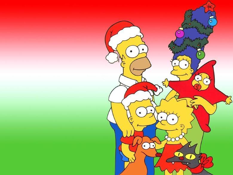 Simpsons Christmas Desktop Backgrounds