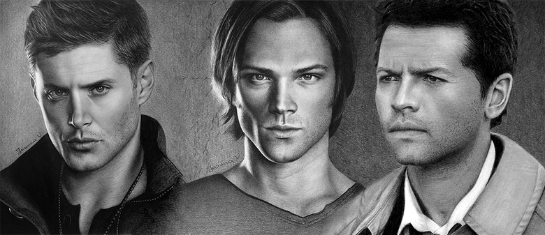 Sam Dean and Castiel from Supernatural
