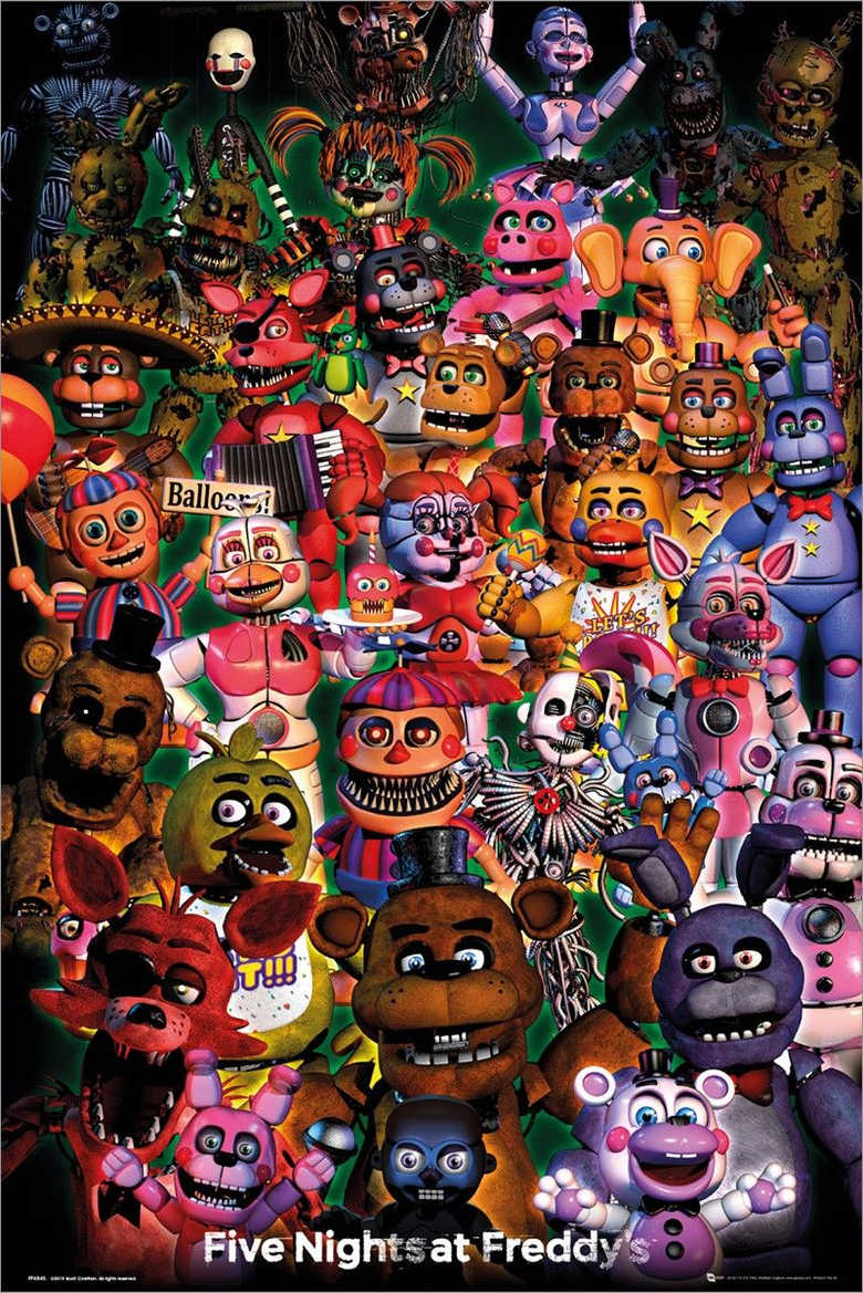 all of the fnaf