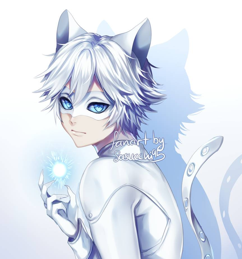 cat blanc