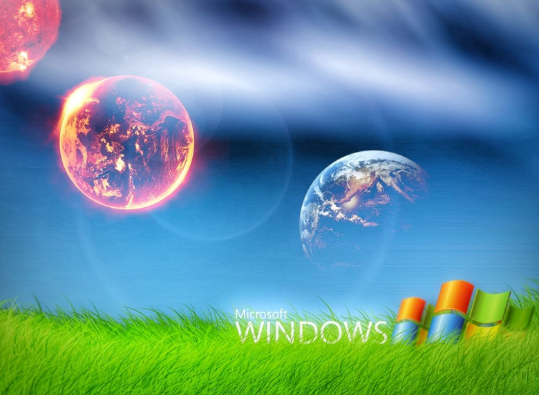 Windows Background with planets of background