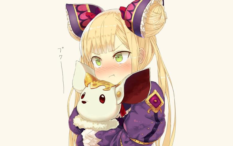 2560x1600 Shadowverse Anime Girl Blonde Ribbons Cute