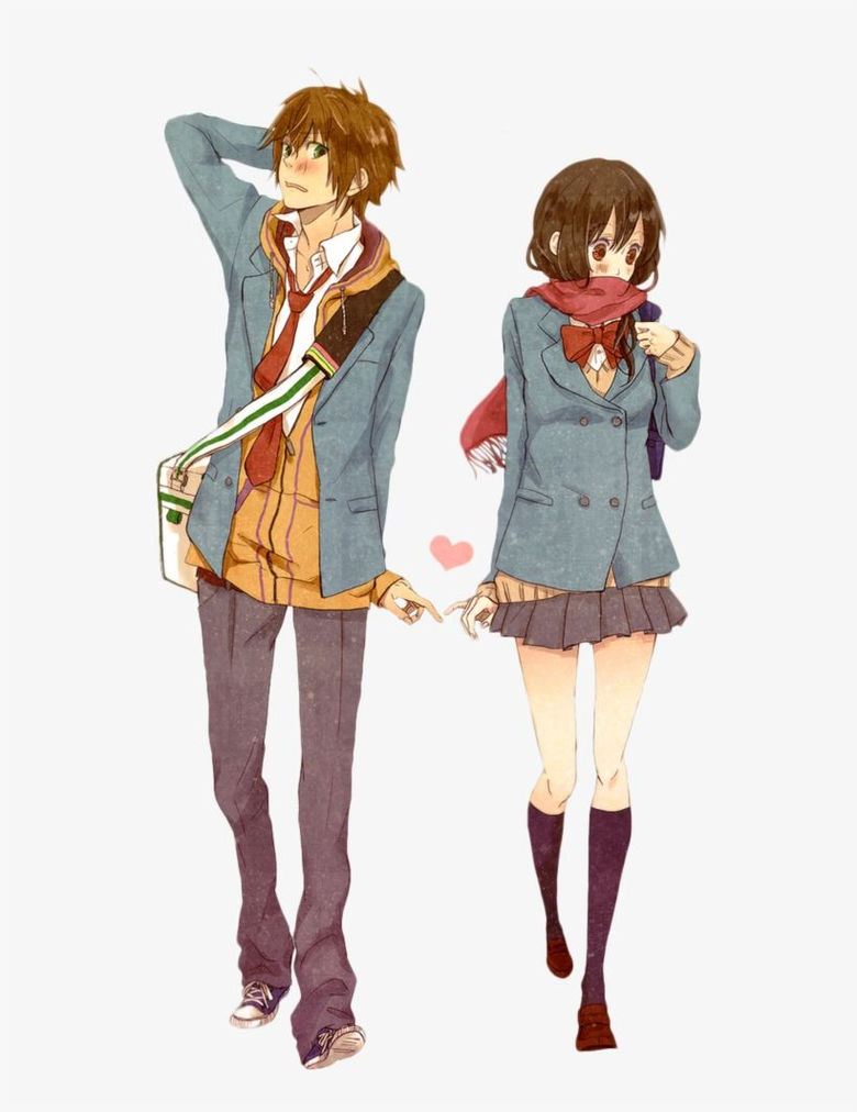 Anime Couple Png Image Transparent