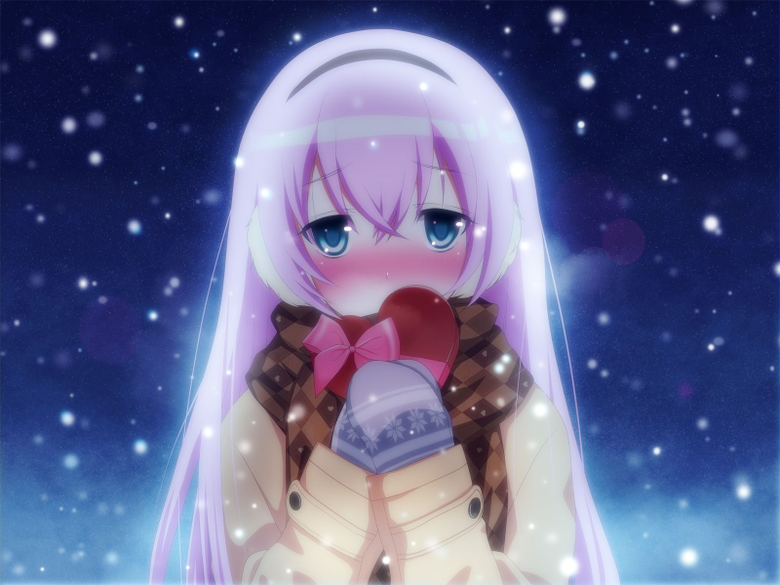 Anime Girl In Snow Wallpapers