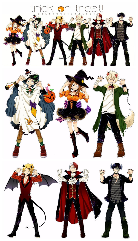 BNHA Halloween Costumes