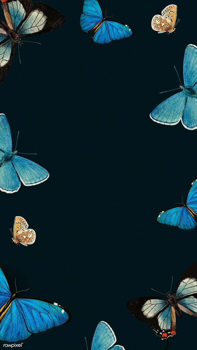 Black Backgrounds Butterfly Emoji